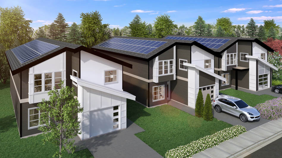 solar design, rendering, new home solar, electrical code, electrical conduit, pv, photovoltaic